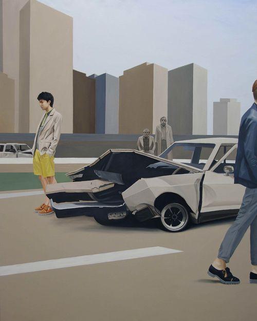 Around-the-city-Oil-on-Canvas-162.1°∆©™-130.3cm-2011