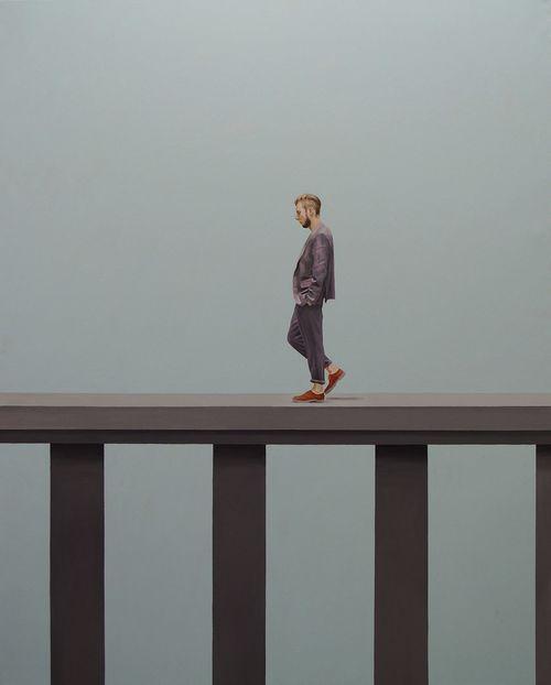 Walking-man-Oil-on-Canvas-162.1°∆©™-130.3cm-2011